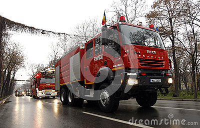 Fire brigade trucks Editorial Stock Photo