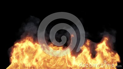 Fire burning on black background stock video