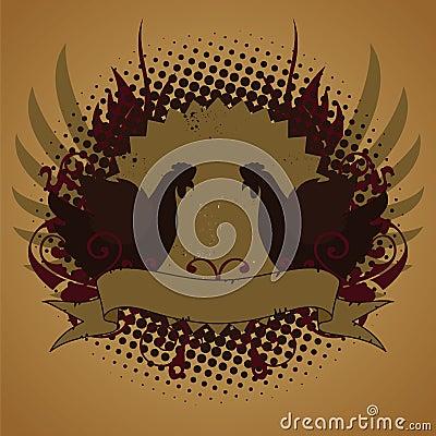 Fire chickens, emblem