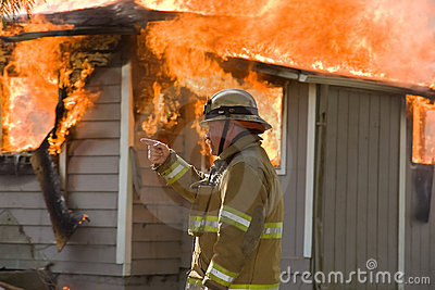 Fire Chief at Structure Fire