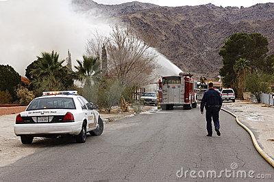 Fire Crew, San Bernardino, California Editorial Photography