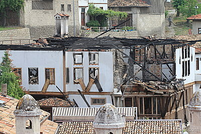 Fire damage Editorial Image