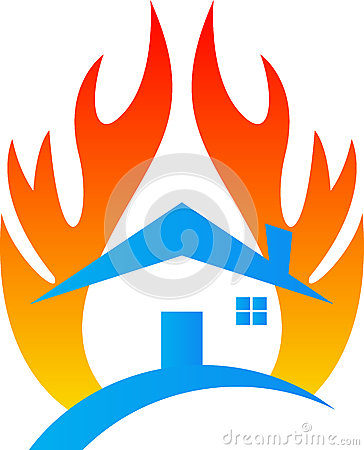 Free Fire Damage Home Insurance Stock Photos - 32704613