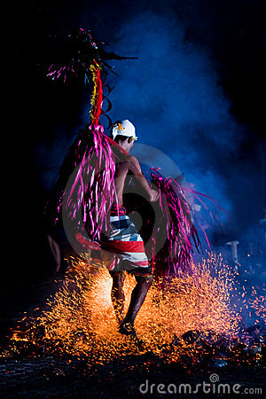 Fire Dancer Entertainment Editorial Stock Image