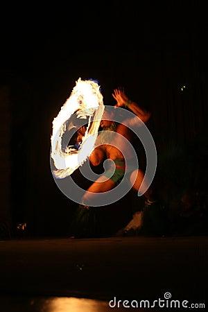 Fire dancer in Hawaii