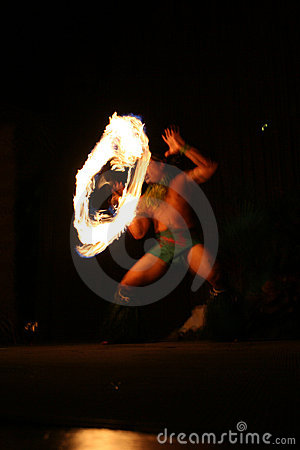 Free Fire Dancer In Hawaii Royalty Free Stock Photos - 1746578