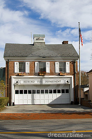 Fire department building Bedford New York