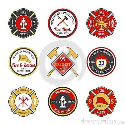 Free Fire Department Emblems Stock Photos - 47721003