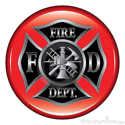 Fire Department Maltese Cross Button