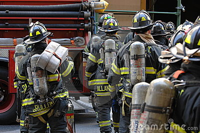 Fire Department NYC in Action Editorial Photo