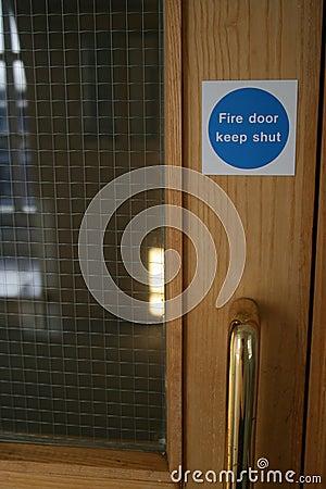 Free Fire Door Royalty Free Stock Image - 1621316
