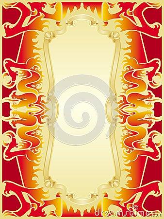 Fire dragon frame set