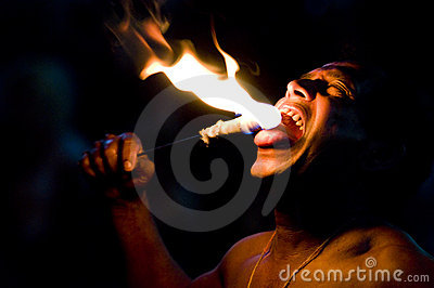 Fire-eater Editorial Image