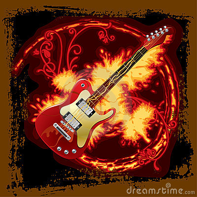 Fire electric guitar