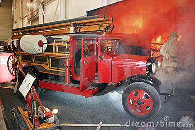 Fire engine PMG-1 on GAZ-AA chassis, 1932-1941 Editorial Photography