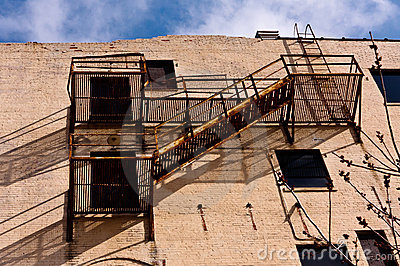 A fire escape
