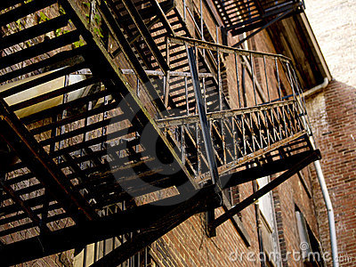 Fire Escape in Alley Way