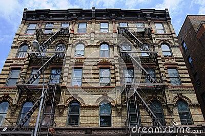 Apartment Building Fire Escape Ladder contemporary apartment building fire escape ladder stock photo