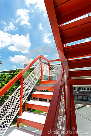 Fire escape staircase design