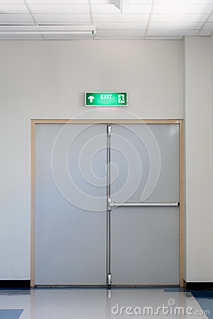 Free Fire Exit Door Royalty Free Stock Photo - 43154965
