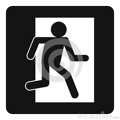 Free Fire Exit Sign Icon Simple Royalty Free Stock Images - 92649119