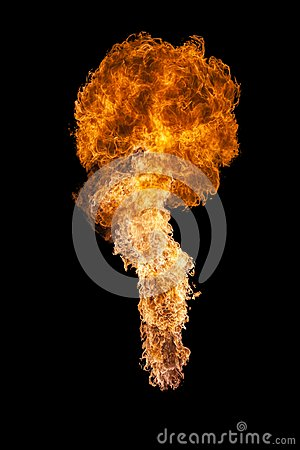 Free Fire Explosion, Isolated On Black Background Royalty Free Stock Images - 107385599