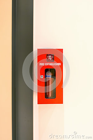 Free Fire Extinguisher Box Kit Tools, Fire Proof System, Fire Extingu Royalty Free Stock Images - 93326269