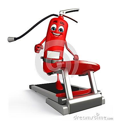 Fire extinguisher character walking machine cartoon 42775185