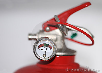Fire extinguisher meter