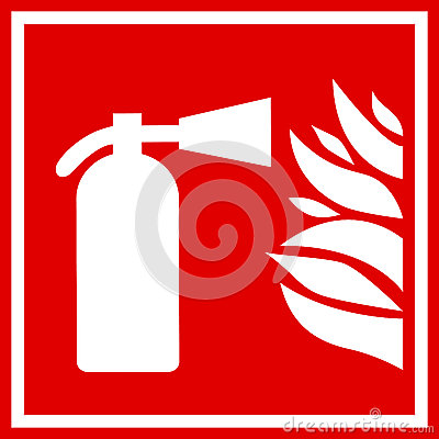 fire extinguisher vector sign stock images image 37667504