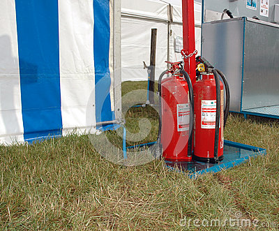 Fire extinguishers outdoor event