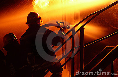 Fire fighter silhouettes 1