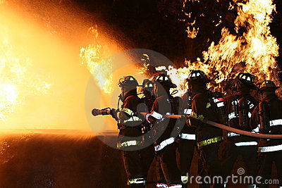 Fire Fighters Editorial Stock Image