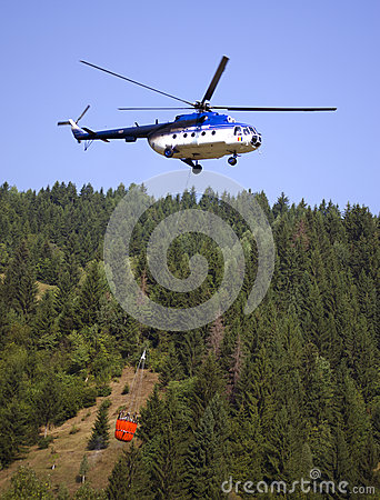 Fire fighting Helicopter Editorial Stock Photo