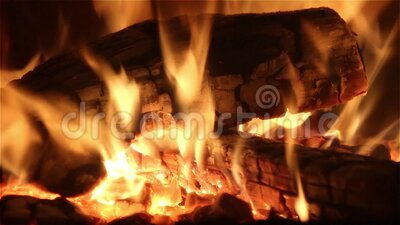 Fire in a fireplace. Stock video bright fire in a fireplace stock video footage
