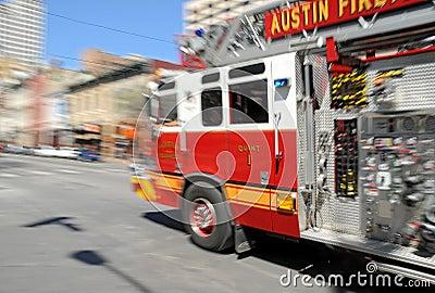Fire - Firetruck on Rush in Austin, TX