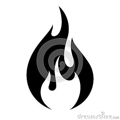 Free Fire Flame Icon Stock Photo - 93507640