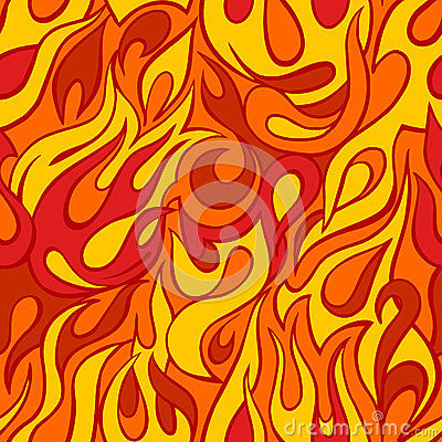 Free Fire Flame Seamless Pattern Stock Image - 48246171