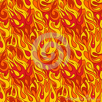 Free Fire Flame Seamless Pattern Stock Image - 48677521