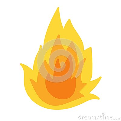 Fire flame vector Vector Illustration