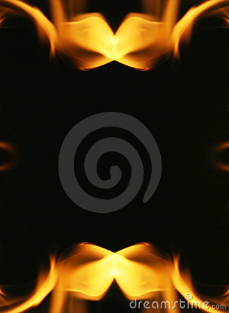 Free Fire Flames Frame Stock Images - 6888874