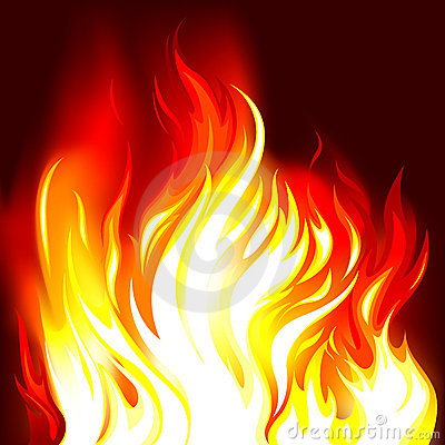 Free Fire Flames In The Dark Stock Photo - 9116620