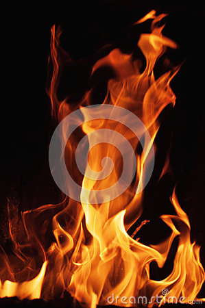 Free Fire Flames On A Black Background. Blaze Fire Flame Texture Background. Close Up Of Fire Flames Isolated On Black Background. Burn Stock Images - 65753064