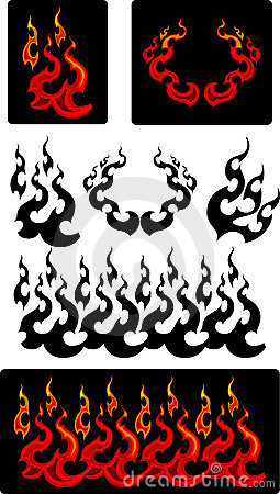Fire and Flames Vector Icons