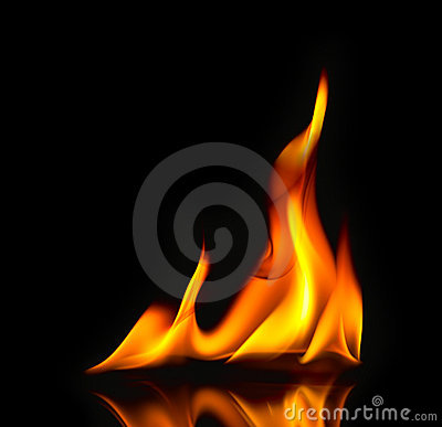 Free Fire Flames / With Reflection Stock Photo - 22062200