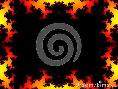 Fire fractal frame