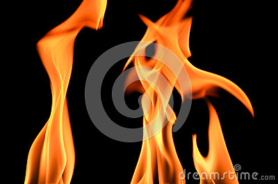 Fire Frame On Black Background Royalty Free Stock Photo - Image: 25874515