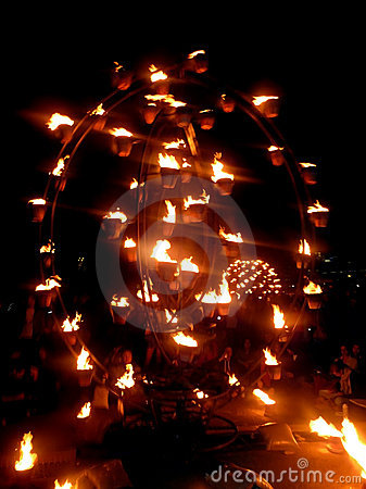 Fire Garden At River Thames Festival Editorial Image