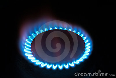 Fire of gas flame