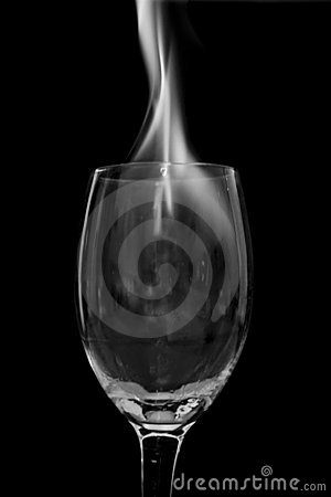 Fire in glass